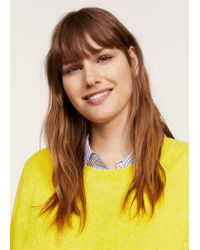 Violeta by Mango - Yellow Textured Fine-knit Sweater - Lyst