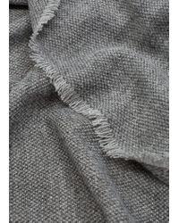 Mango - Gray Frayed Edge Scarf - Lyst