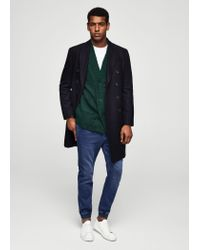 Mango - Green Textured Knit Cardigan for Men - Lyst