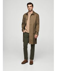 Mango - Green Slim-fit Cotton Chinos for Men - Lyst