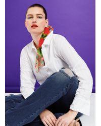 Violeta by Mango - Blue Bootcut Martha Jeans - Lyst