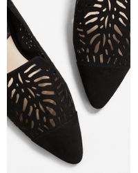 Mango - Black Die-cut Design Shoes - Lyst