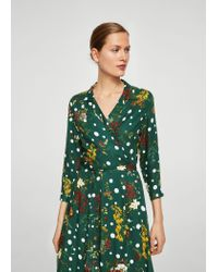 Mango - Green Dress - Lyst