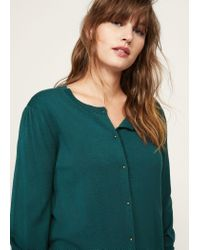 Violeta by Mango - Green Puffed Sleeves Cardigan - Lyst