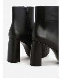 Mango - Black Zipped Platform Boots - Lyst