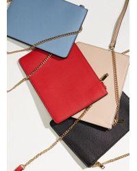 Mango - Red Saffiano-effect Cross-body Bag - Lyst
