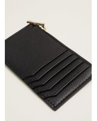 Mango - Black Multiple Compartment Cardholder - Lyst