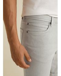 Mango Gray 5 Pocket Bermuda Shorts for men