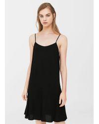Lyst - Mango Strap Flowy Dress in Black 5cfc565fe