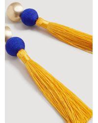 Mango - Yellow Tassel Earrings - Lyst