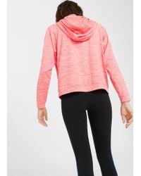 Mango - Pink Flecked Message Sweatshirt - Lyst