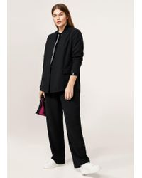 Violeta by Mango - Black Unstructured Flowy Blazer - Lyst