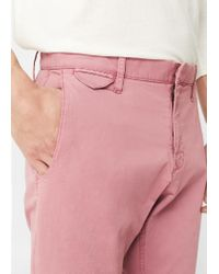 Mango - Pink Straight-fit Cotton Chinos for Men - Lyst
