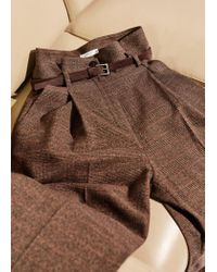 Mango - Brown Trousers - Lyst