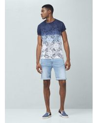 Mango | Blue Bandana Print T-shirt for Men | Lyst