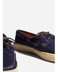 Mango - Blue Suede Driving Shoes - Lyst