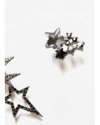 Mango - Metallic Crystal Faceted Earcuff - Lyst