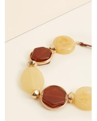 Violeta by Mango - Natural Faceted Stone Necklace - Lyst