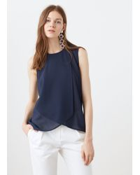 Mango - Blue Double-layer Blouse - Lyst