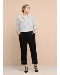 Violeta by Mango | White Printed Flowy Shirt | Lyst