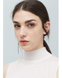 Mango - White Cotton T-shirt - Lyst