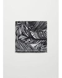 Mango | Black Printed Scarf | Lyst