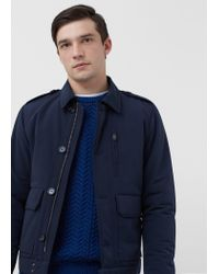 Mango - Blue Technical Fabric Jacket for Men - Lyst