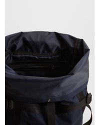 Mango - Blue Front Lapel Backpack for Men - Lyst