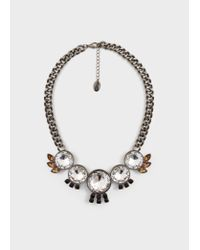 Mango | Metallic Faceted Crystal Necklace | Lyst