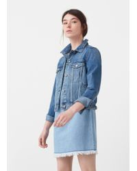 Mango | Blue Medium Denim Jacket | Lyst