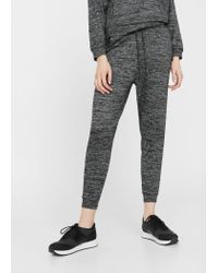 Mango | Black Flecked Baggy Trousers | Lyst