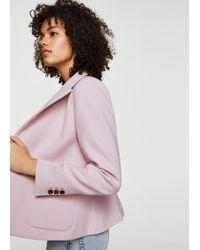 Mango - Pink Essential Structured Blazer - Lyst