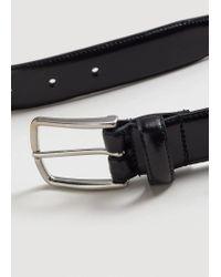 Mango   Black Buckle Leather Belt for Men   Lyst