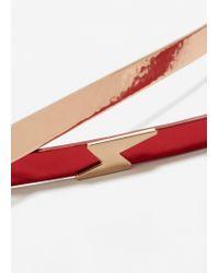 Mango - Red Skinny Belt Pack - Lyst