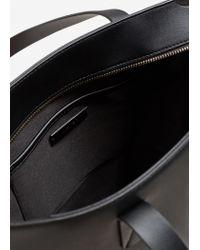 Mango - Black Zip Shopper Bag - Lyst