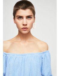 Mango | Blue Knots Textured Dress | Lyst