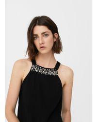 Mango - Black Jewel Texture Dress - Lyst