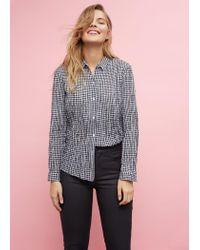 Violeta by Mango | Black Coated Slim-fit Carmen Jeans | Lyst