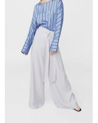 Mango | Blue Palazzo Trousers | Lyst