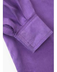 Mango | Purple Wrapped Cupro Blouse | Lyst