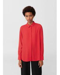 38a70e26d67ed7 Lyst - Mango Flowy Shirt in Red