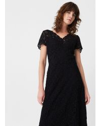 Mango | Black Guipure Gown | Lyst