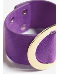 Mango - Purple Metal Appliqué Bracelet - Lyst