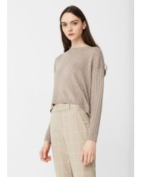 Mango | Gray Decorative Button Sweater | Lyst