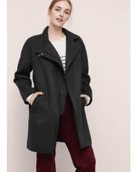 Violeta by Mango | Gray Unstructured Wool Coat | Lyst
