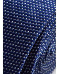 Mango - Blue Textured Silk Tie for Men - Lyst