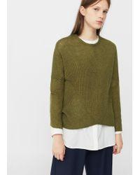 Mango - Multicolor Stripe Textured Sweater - Lyst