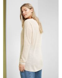 Violeta by Mango - Natural Metal Thread Sweater - Lyst