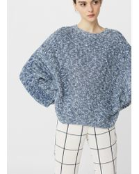 Mango | Blue Oversize Cotton Sweater | Lyst