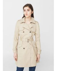 Mango | Natural Classic Cotton Trench Coat | Lyst